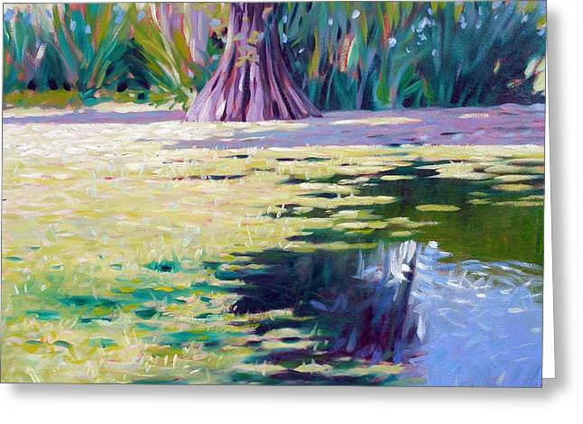 Algae Paintings Greeting Cards - Algae Greeting Card by Kevin Lawrence Leveque