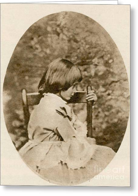 Lewis Carroll Greeting Cards - Alice Liddell, Alices Adventures Greeting Card by Science Source