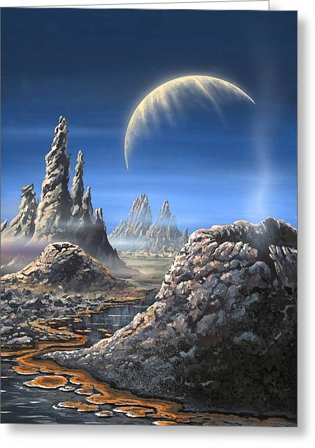 Microbiology Greeting Cards - Alien Planet, Artwork Greeting Card by Richard Bizley