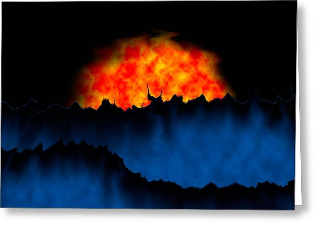 Rising Greeting Cards - Alien Sunset Greeting Card by Christopher Gaston