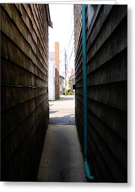 Wood Greeting Cards - Alley To Light Greeting Card by Stephanie Nugent