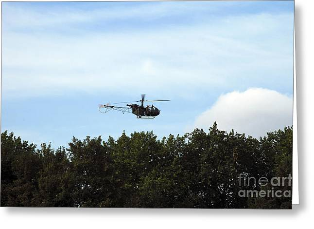 Air Component Greeting Cards - Alouette Ii Of The Belgian Army Greeting Card by Luc De Jaeger
