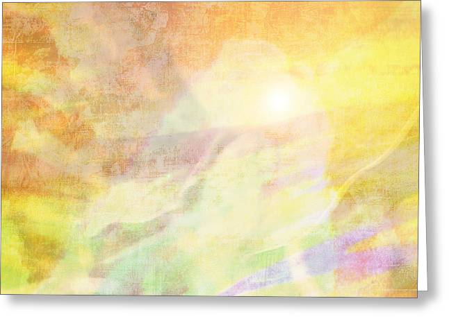 Orchid Canvas Greeting Cards - Amber Waves Greeting Card by Maria Eames