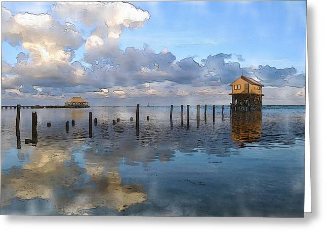 Residential Structure Greeting Cards - Ambergris Caye Belize Greeting Card by Brandon Bourdages