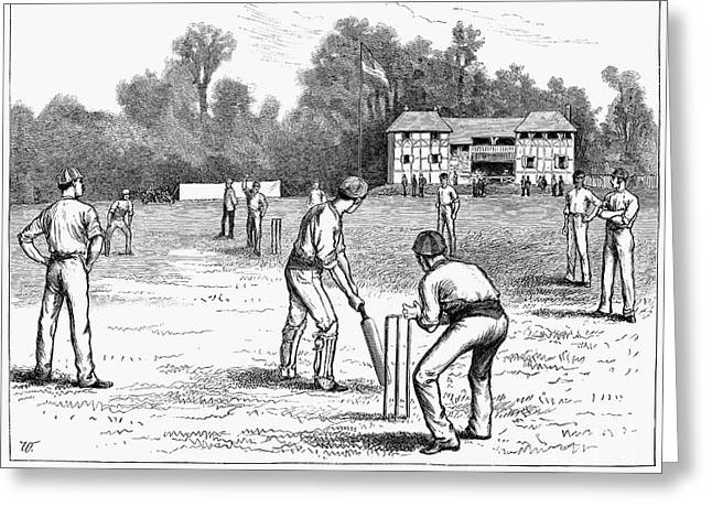 American Cricketers Greeting Cards - American Cricket, 1882 Greeting Card by Granger