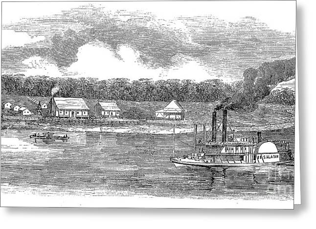 Steamboat Greeting Cards - AMERICAN STEAMBOAT, c1870 Greeting Card by Granger