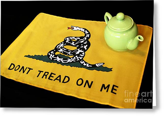 American Conservative Party Greeting Cards - American Tea Party Greeting Card by John Van Decker