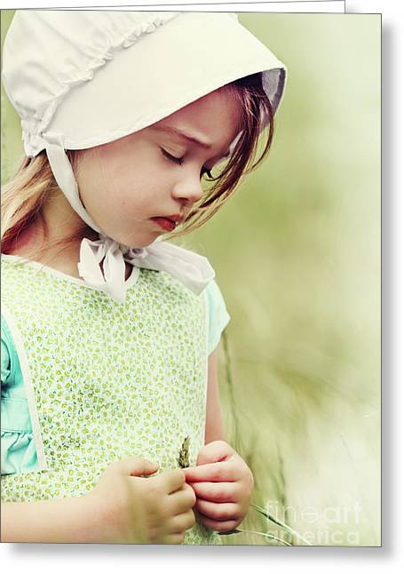 Believers Greeting Cards - Amish Child Greeting Card by Stephanie Frey
