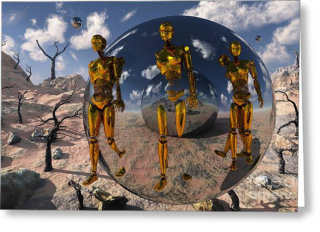 Emergence Digital Greeting Cards - An Advanced Civilization Uses Time Greeting Card by Mark Stevenson