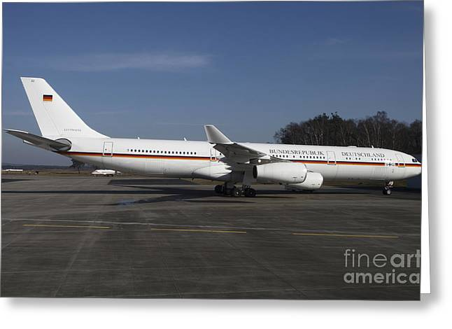 First Class Greeting Cards - An Airbus 340 Acting As Air Force One Greeting Card by Timm Ziegenthaler