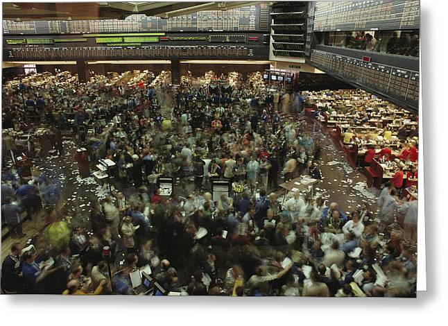 An Elevated View Of Traders Greeting Card by Michael S. Lewis
