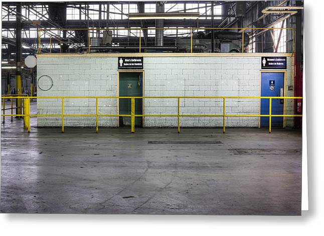 Us Open Photographs Greeting Cards - An Empty Industrial Building In Los Greeting Card by Dan Kaufman