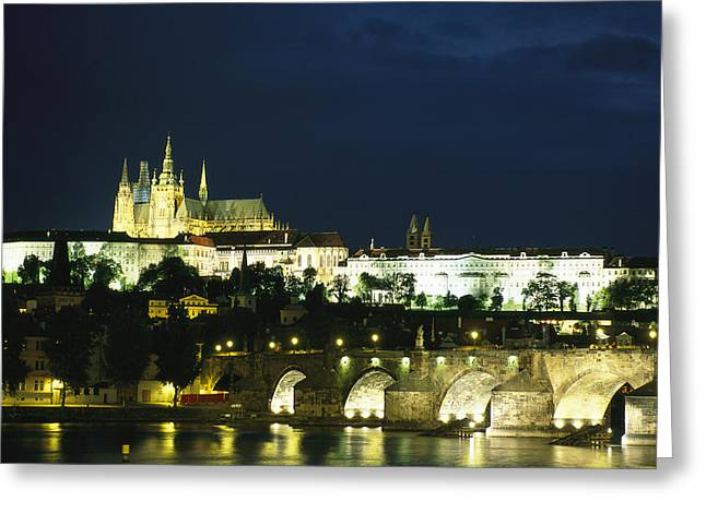 Night Scenes Greeting Cards - An evening view of the Greeting Card by Taylor S. Kennedy