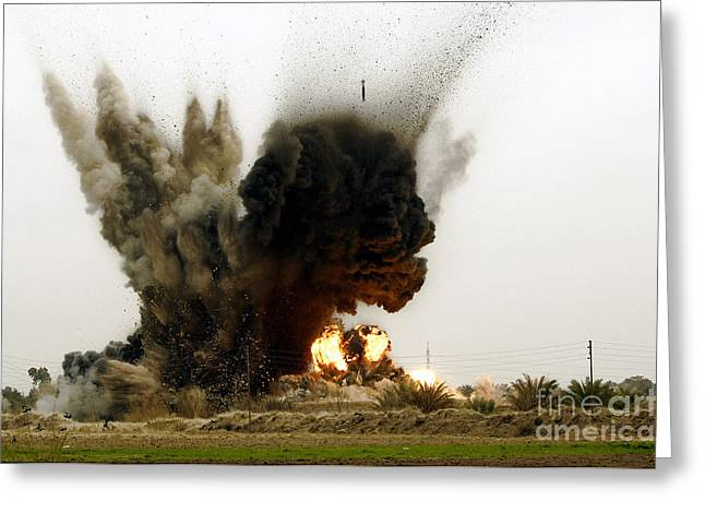 Fragmentation Greeting Cards - An Explosion Greeting Card by Stocktrek Images