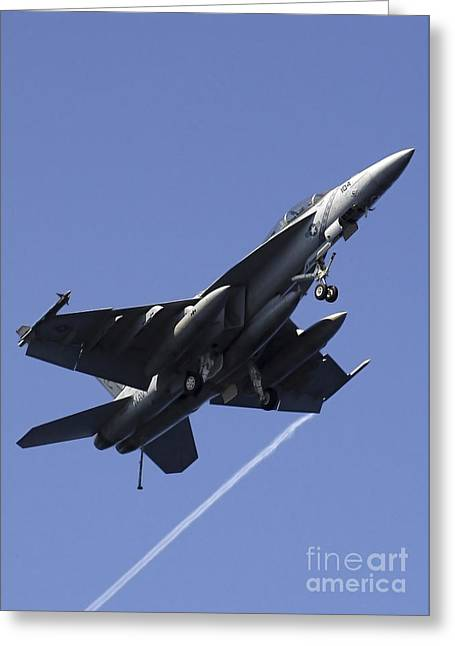 F-18 Greeting Cards - An Fa-18f Super Hornet Greeting Card by Stocktrek Images