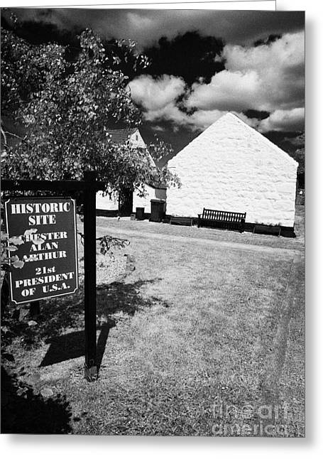 21st Greeting Cards - Ancestral home of Chester A Arthur 21st president of the united states arthur cottage cullybackey  Greeting Card by Joe Fox