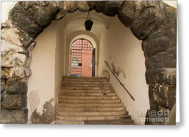 Evgeny Pisarev Greeting Cards - Ancient gates Greeting Card by Evgeny Pisarev
