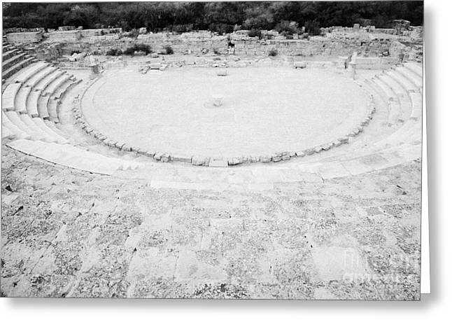 Open Air Theater Greeting Cards - Ancient Site Of Roman Theatre At Salamis Famagusta Turkish Republic Of Northern Cyprus Trnc Greeting Card by Joe Fox