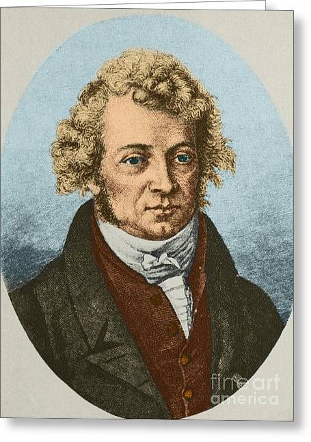 Electric Current Greeting Cards - Andre Marie Ampère, French Physicist Greeting Card by Science Source