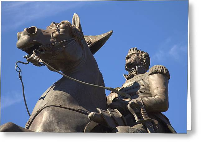 Quarter Horse Digital Art Greeting Cards - Andrew Jackson Statue Greeting Card by Mike McGlothlen