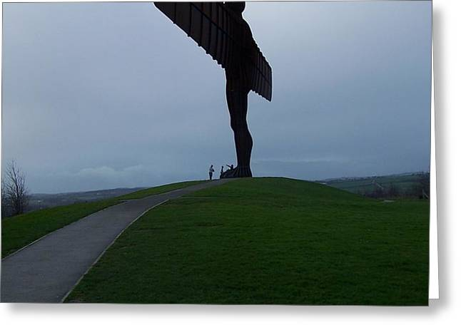 Angel of the North Greeting Card by Roberto Edmanson-Harrison