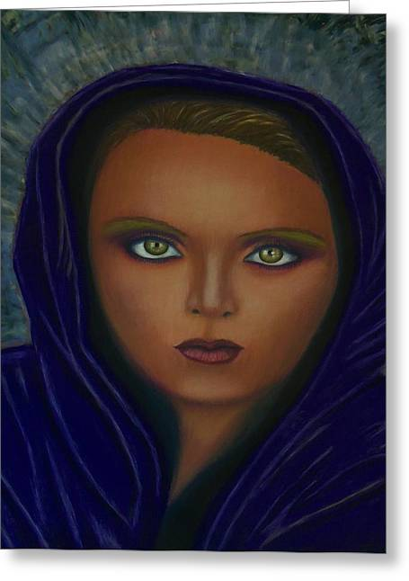 African-american Pastels Greeting Cards - Angel of Truth Greeting Card by D Rogale