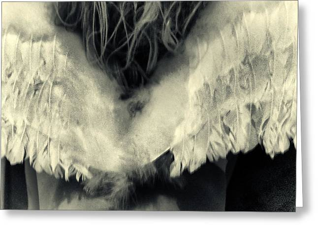 Monochrom Greeting Cards - Angel Greeting Card by Stylianos Kleanthous