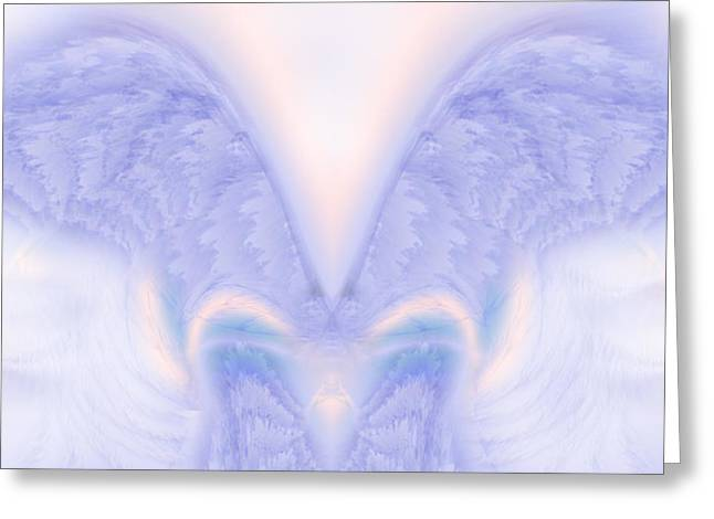 Seraphim Angel Paintings Greeting Cards - Angel Wings Greeting Card by Christopher Gaston