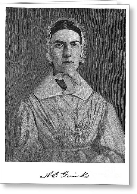 Abolition Greeting Cards - Angelina Emily Grimke Greeting Card by Granger