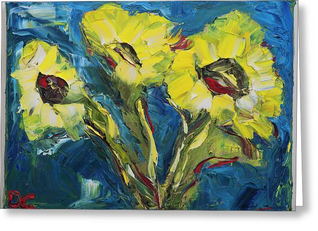 Van Gogh Style Greeting Cards - Anna Greeting Card by Dan Castle