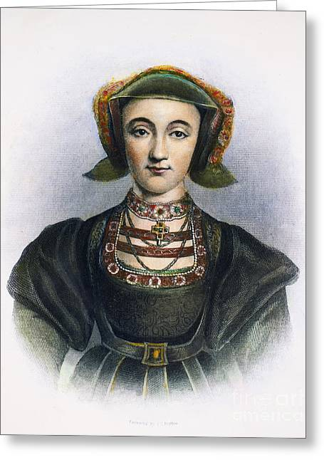 Cleves Greeting Cards - Anne Of Cleves (1515-1557) Greeting Card by Granger