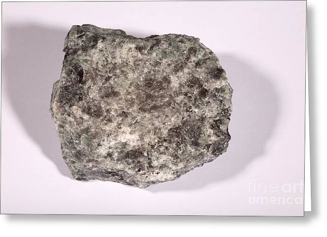 Isotopes Greeting Cards - Anorthosite Greeting Card by Ted Kinsman
