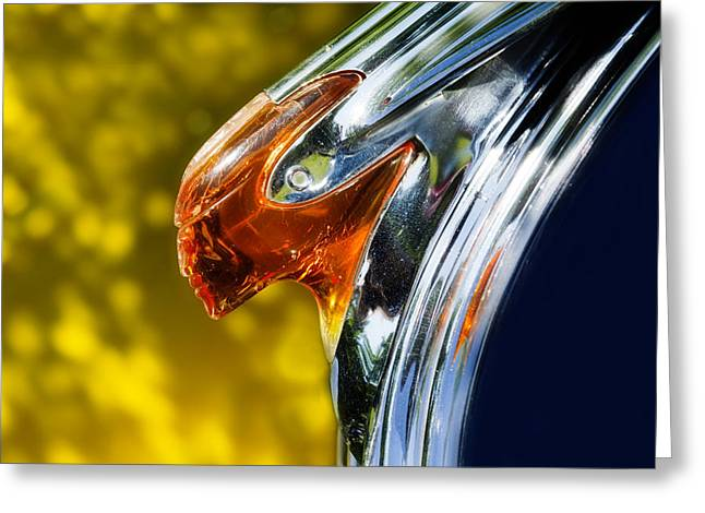 Car Hood Ornament Photographs Greeting Cards - Another Chief Greeting Card by Rebecca Cozart