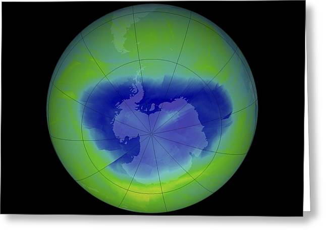 Hole 12 Greeting Cards - Antarctic Ozone Hole, 2010 Greeting Card by Nasa
