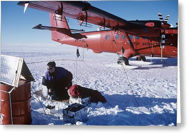 Antena Greeting Cards - Antarctic Research Greeting Card by David Vaughan