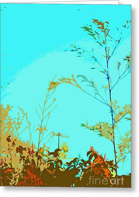 Landscape Posters Greeting Cards - Antenna Greeting Card by Tracy Long