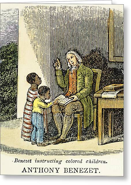 Abolition Greeting Cards - Anthony Benezet (1713-1784) Greeting Card by Granger
