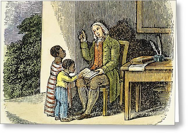 ANTHONY BENEZET (1713-1784) Greeting Card by Granger