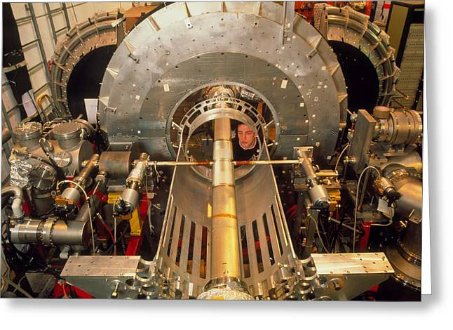 Cern Greeting Cards - Antihydrogen Experiment At Cern Greeting Card by David Parker