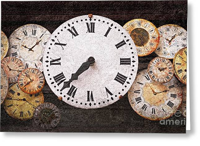 Clock Photographs Greeting Cards - Antique clocks Greeting Card by Elena Elisseeva