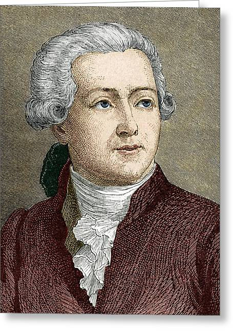 Antoine Lavoisier, French Chemist Greeting Card by Sheila Terry