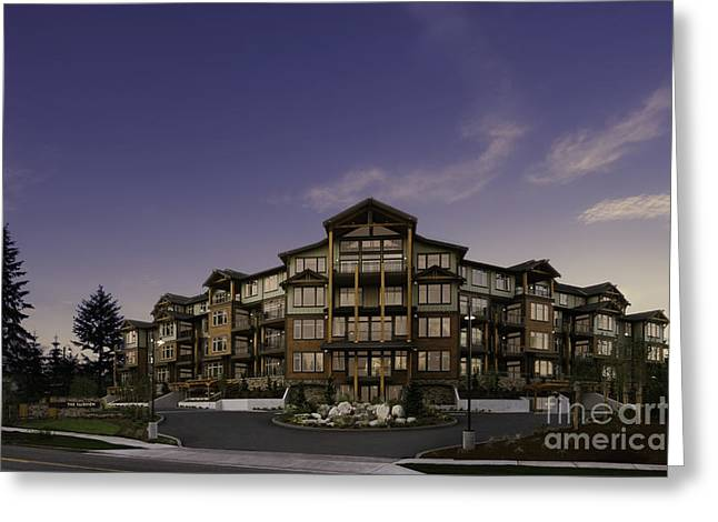 Apartment Building Entrance Greeting Card by Robert Pisano