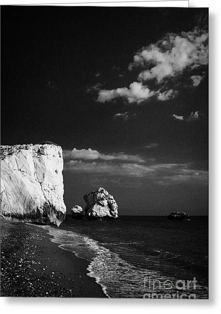 Petra Greeting Cards - Aphrodites Rock Petra Tou Romiou Republic Of Cyprus Greeting Card by Joe Fox