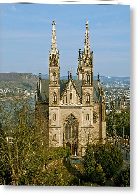 Apollinaris Church In Remagen Greeting Card by Design Windmill