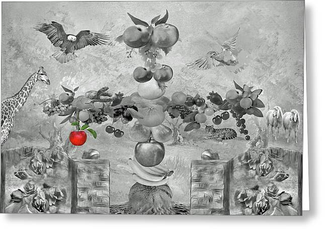 Melon Greeting Cards - In the Garden of Eden Greeting Card by Manfred Lutzius