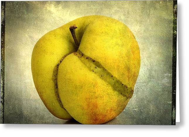 Apple Textured Greeting Card by Bernard Jaubert
