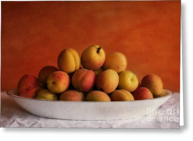 Bowls Greeting Cards - Apricot Delight Greeting Card by Priska Wettstein