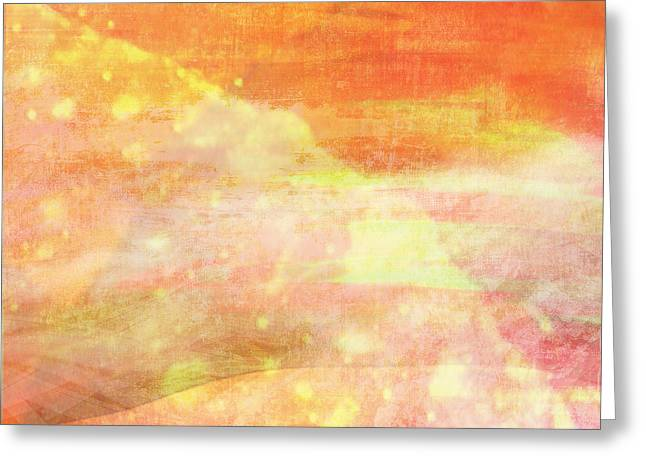 Orchid Canvas Greeting Cards - Apricot Mist Greeting Card by Maria Eames