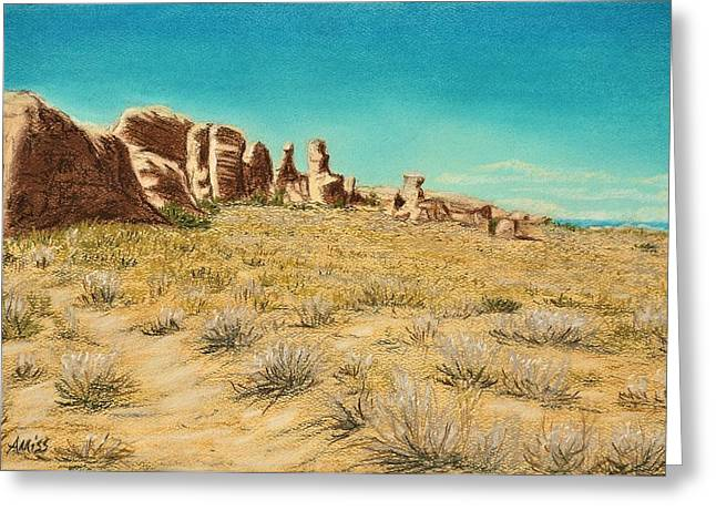 National Pastels Greeting Cards - Arches 2 Greeting Card by Jan Amiss
