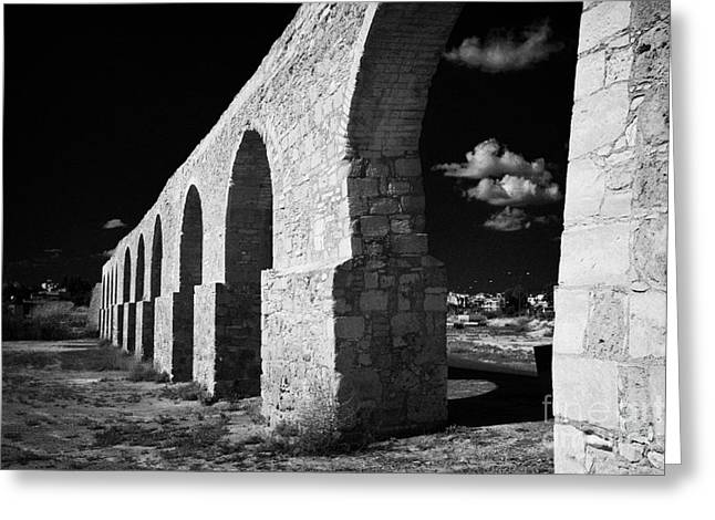 Kypros Greeting Cards - Arches Of The Kamares Aqueduct Larnaca Republic Of Cyprus Europe Greeting Card by Joe Fox